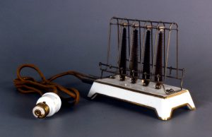 electricity - 1909 toaster with light fitting plug