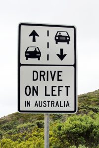 electricity - Australia drives on the left (sign) 2
